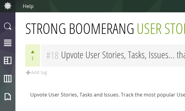 Upvote User Stories, tasks and issues