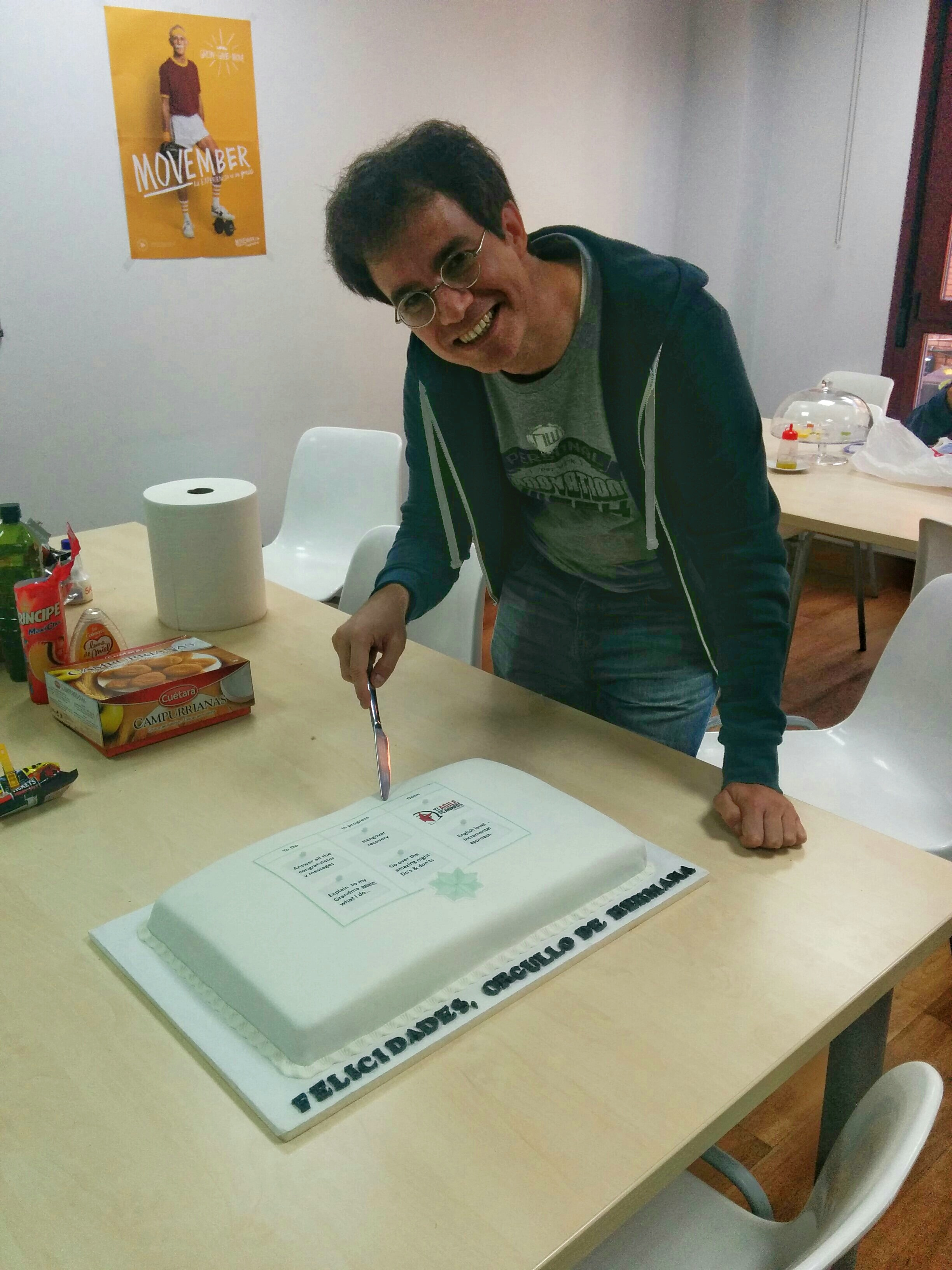 Thanks to Inés for her delicious Kanban-cake
